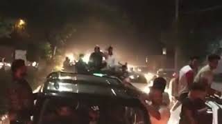 Car rally in delhi du election 2019 abvp