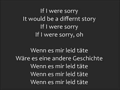 if i were sorry lyrics