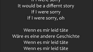 If I were Sorry - Frans | Lyrics - Übersetzung