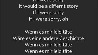 If I were Sorry - Frans | Lyrics - Übersetzung
