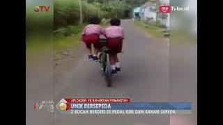 Lucu!! Cara Unik Dua Bocah Ini Genjot Satu Sepeda - BIP 29/03