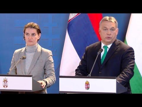 Ana Brnabić és Orbán Viktor sajtótájékoztatja 2018.02.09.