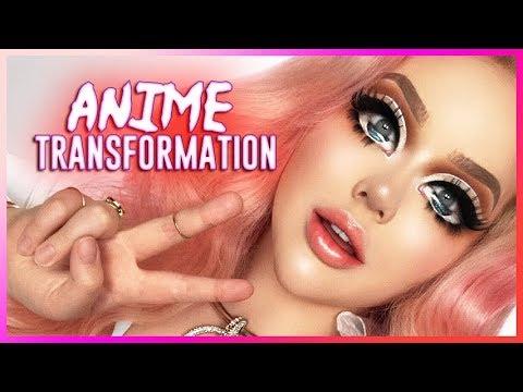 EXTREME ANIME MAKEUP TRANSFORMATION
