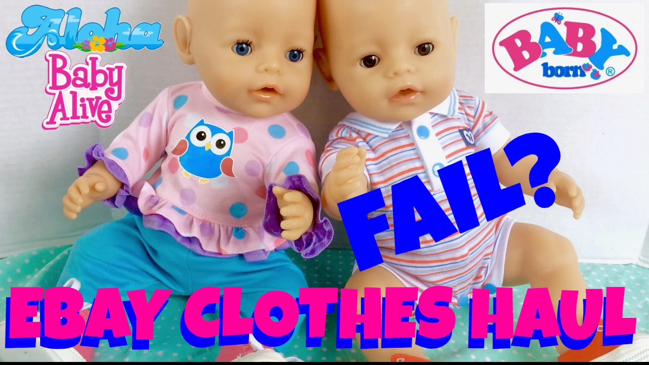 Baby Born Twins Ethan Emma Get New Clothes From Ebay Trying On Their Outfits Youtube