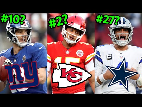 Ranking All 32 NFL Starting Quarterbacks Of 2019 From WORST To FIRST