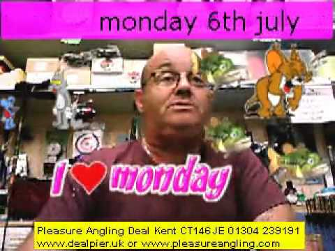 fresh bait daily from pleasure angling tackle & bait shop deal kent 6th july