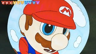 How to Draw Super Mario Odyssey, Mario Fisheye Lens #230 | Drawing Coloring Pages Videos for Kids