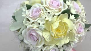 Свадебный букет невесты «Единственная» из роз и пионов ручной работы  от мастера рукоделия