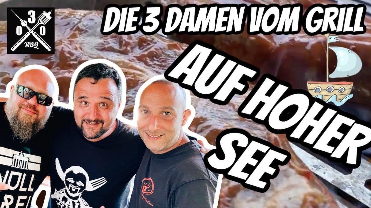 Drecksau FLACHGRILLEN auf hoher See mit @Klaus grillt  und @Westmünsterland BBQ   - 030BBQ