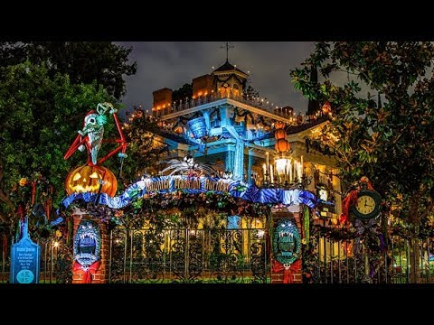 HAUNTED MANSION HOLIDAY! FULL RIDE 2017  Disneyland Halloween