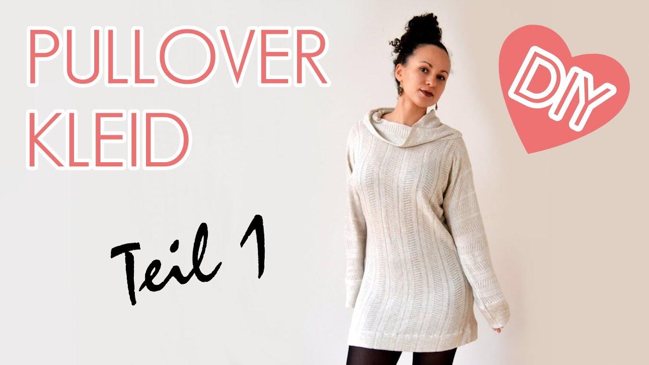 ea0d58d437a DIY Oversized Pullover   Kleid mit Kragen - Nähen für Anfänger - Teil 1