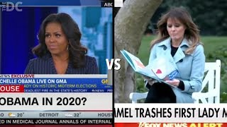 There Is A Huge Difference In Media Coverage Between Melania Trump And Michelle Obama