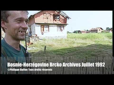 Bosnie-Herzégovine Brcko Lignes de front serbe Archives Juillet 1992
