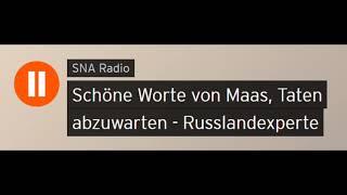 Schöne Worte von Maas, Taten abzuwarten - Russlandexperte Peter Schulze (Sputniknews)