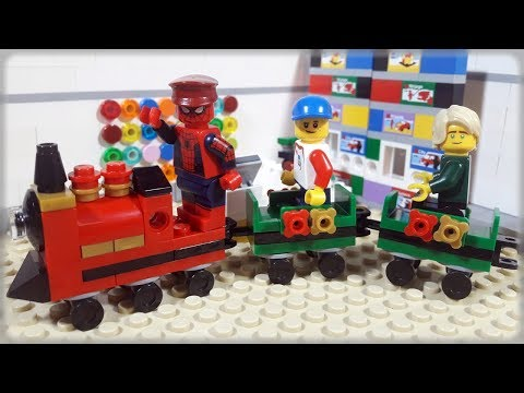 Lego Train Video For Kids Spiderman & Ninjago Funny Stop Motion Animation