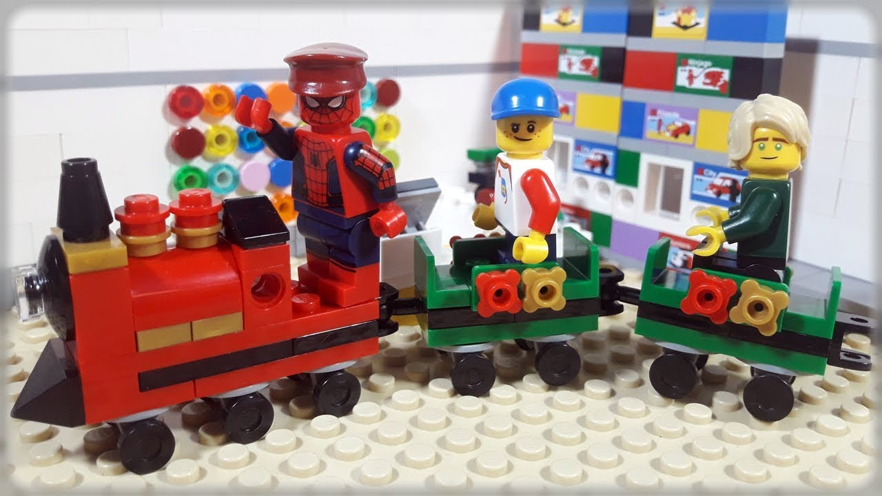 Lego Train Video For Kids Spiderman & Ninjago Funny Stop Motion ...