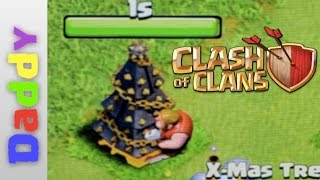 What happens when you pull a 2015 X-MASS tree in Clash of clans?