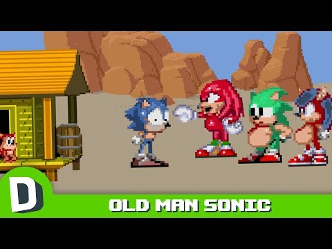 The Dark Future of Sonic the Hedgehog Old Man Sonic Part 1