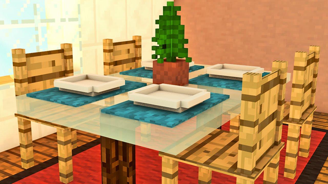 Sala De Estar Minecraft ~ Minecraft A Fazenda  Sala de Jantar  YouTube