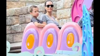 Angelina Jolie photos of Disneyland, as part of Shiloh birthday celebration