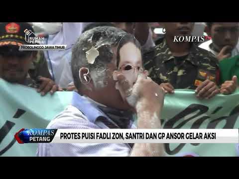 Protes Puisi Fadli Zon, Santri dan GP Ansor Demo