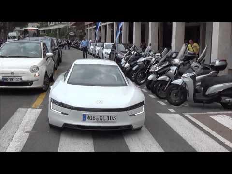 Volkswagen XL1 in Monaco - Diesel Hybrid efficiency