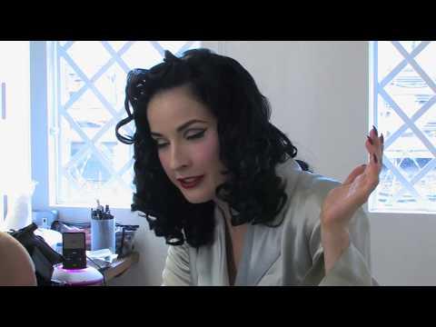Dita Von Teese models for Harpers Bazaar