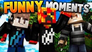 FUNNY MOMENTS! | Minecraft MEGA SKYWARS