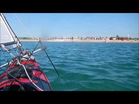 Kayak paddle sail Greece Kalamata port Messinian Gulf Jul Nov 2016