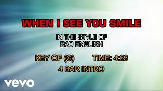Bad English - When I See You Smile (Karaoke)