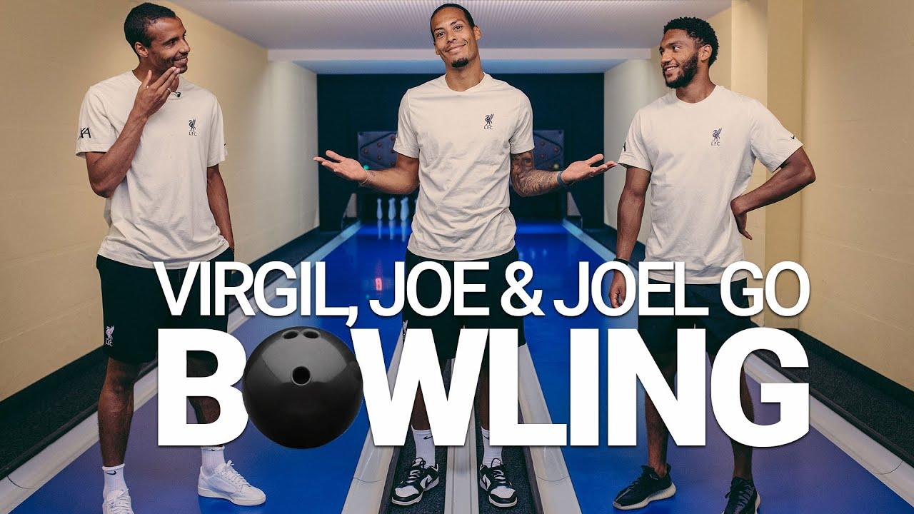 Virgil, Joe & Joel go bowling | Liverpool defenders' Kegel challenge