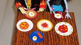 How To Make Spaghetti, Sausage, Bacon And Egg For Doll (monster High, Barbie, Etc)