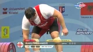 Mужчины +105 кг Tолчок ЧЕ 2013
