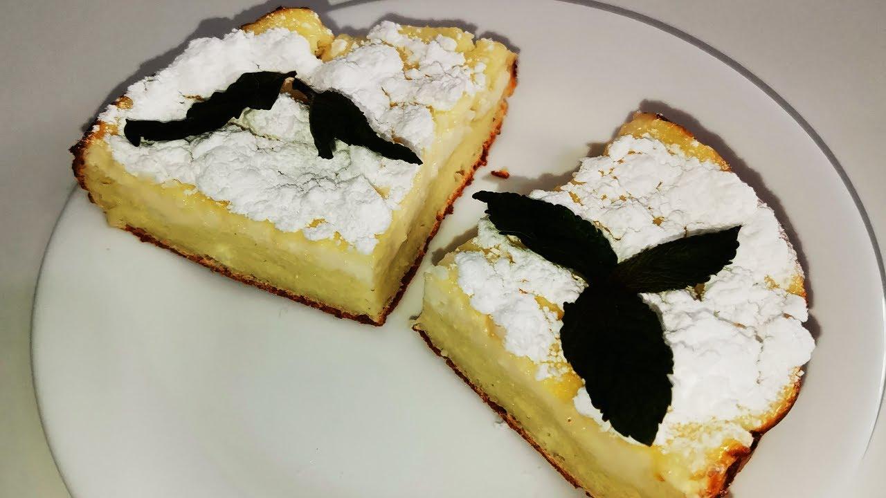 Творожный пирог с сахарной пудрой