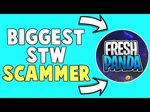 Fresh Panda Is The Former BIGGEST Save The World Scammer (The Fortnte Fuzz)