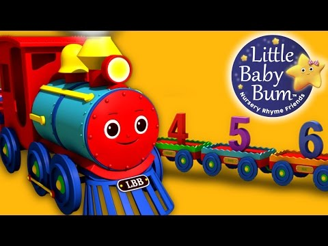Numbers Song for Children  1 to 20 Number Train   LittleBaBum!  HD Version 3D Animation