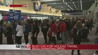Holiday travel rush is on at Bradley International Airport