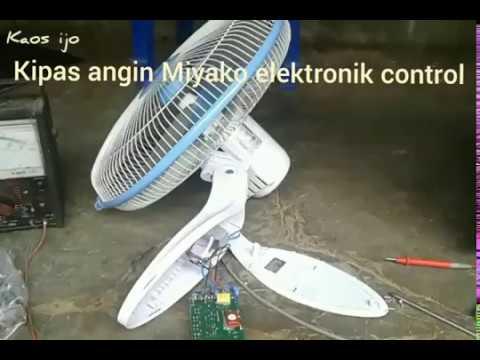 Cara Service Kipas Angin Miyako Elektronik Control Youtube