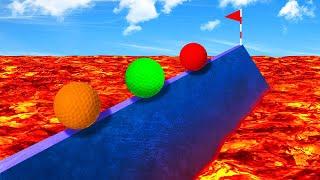 DANGEROUS LAVA TIGHTROPE CHALLENGE! (Golf It)