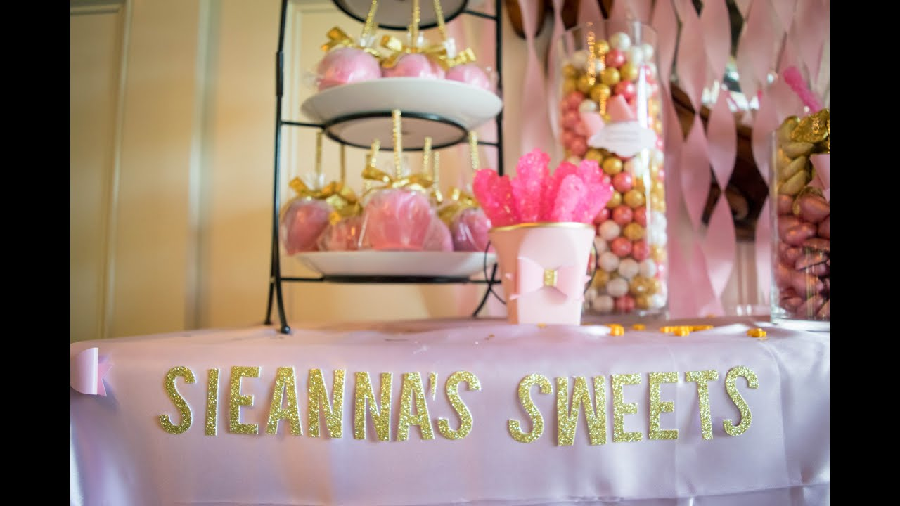 pink and gold candy buffet for a 2016 high school graduate youtube rh youtube com pink white and gold candy buffet pink and gold candy buffet ideas