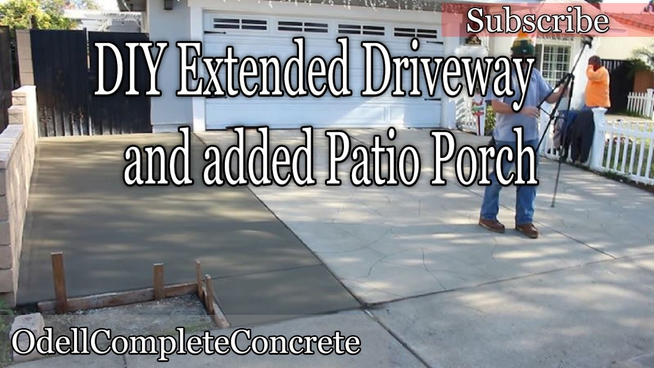 How To Pour U0026 Extend Your Driveway, Plus Add A Concrete Patio Porch