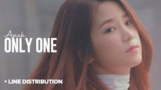 Video APINK - Only One : Line Distribution (Color Coded) download MP3, 3GP, MP4, WEBM, AVI, FLV Januari 2018