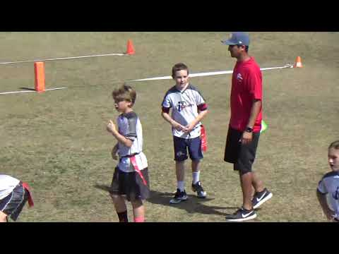 Michael Flag Football Long Pass Completion - 2/18/2018 Championship Game