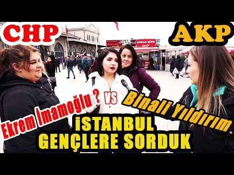 İstanbul'da Gençlere Sorduk. Ekrem İmamoğlu mu, Binali Yıldırım mı? Kime Oy