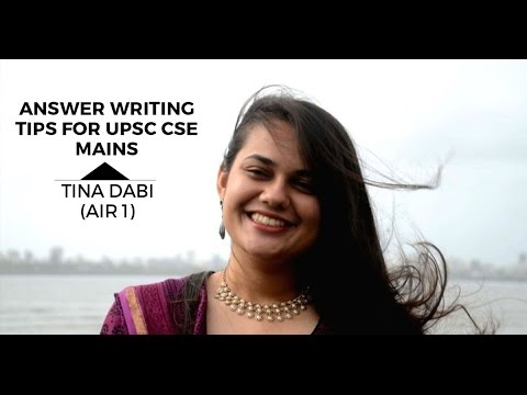 Unacademy - Answer Writing Tips for UPSC CSE Mains by Tina Dabi AIR 1 CSE 2015