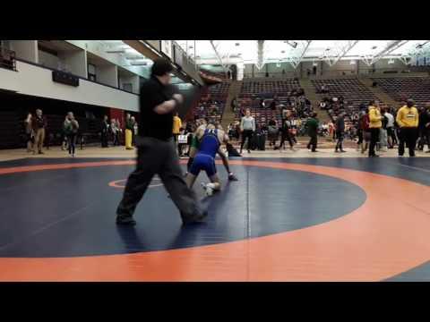 2016 Dino Invitational: 57 kg Zachary Bieber vs. Eric Robertson