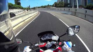 SONY AS15 Motorcycle Day test (Angle of View 170° , SteadyShot off) 1080P