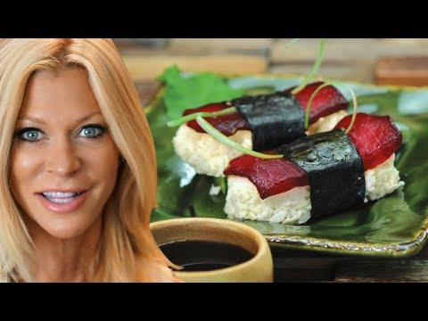 RAW VEGAN SUSHI  - Easy Simple Recipe Made Without Fish, By Cara Brotman