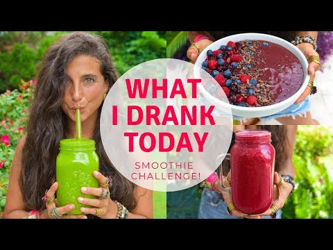 WHAT I DRANK TODAY | Raw Vegan Smoothie Challenge