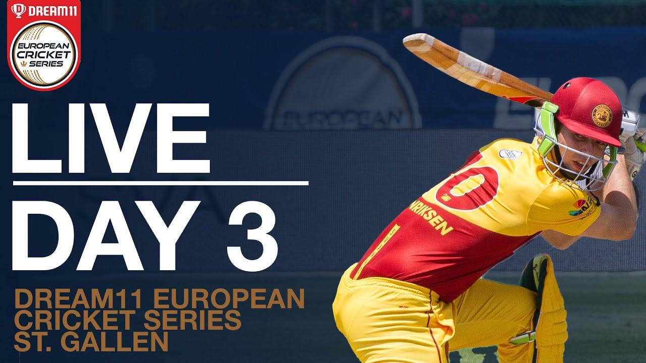 Dream11 European Cricket Series St. Gallen Day 3 | Dream11 European Cricket Series 2020